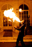 Fire eating and juggling