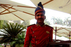 Standing ready at The Imperial, Delhi